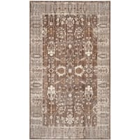 Safavieh Valencia Brown/ Beige Distressed Silky Polyester Rug - 3' x 5'