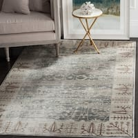 Safavieh Valencia Dark Grey/ Light Grey Distressed Silky Polyester Rug - 3' x 5'