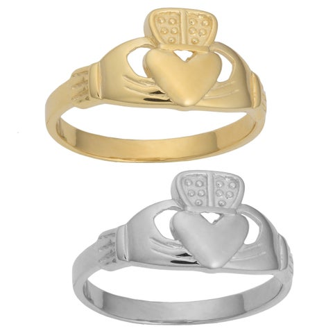 Fremada 14k Gold Size 7 Claddagh Ring (yellow or white gold)
