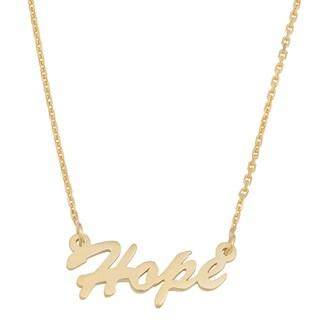 Fremada 14k Yellow Gold High Polished Finish Adjustable Hope Necklace (18 inches)