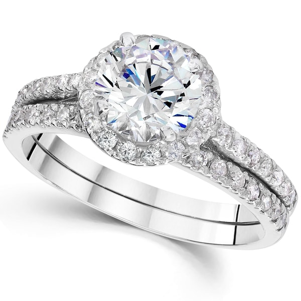 Shop 14k White Gold 2 4/5ct TDW Clarity Enhanced Diamond