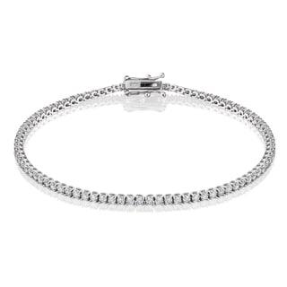 14k White Gold 2ct TDW Diamond Tennis Bracelet (I-J/ISI1-SI2)