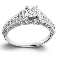 14k White Gold 3/5TDW Vintage Diamond Engagement Ring