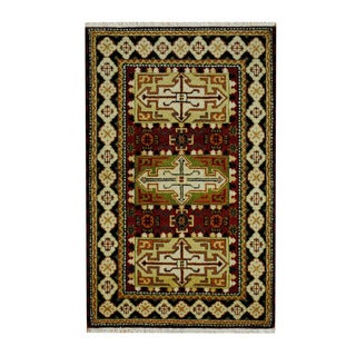 Handmade One-of-a-Kind Kazak Wool Rug (India) - 3'2 x 5'