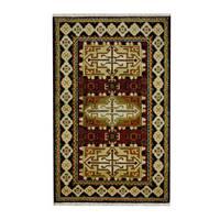 Herat Oriental Indo Hand-knotted Tribal Kazak Wool Rug - 3'2 x 5'