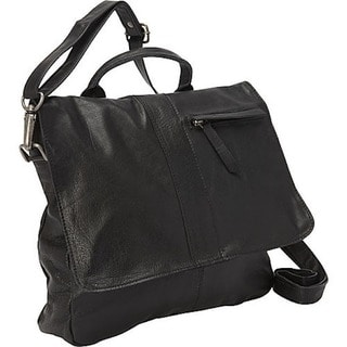 Sharo Black Soft Leather Crossbody Handbag