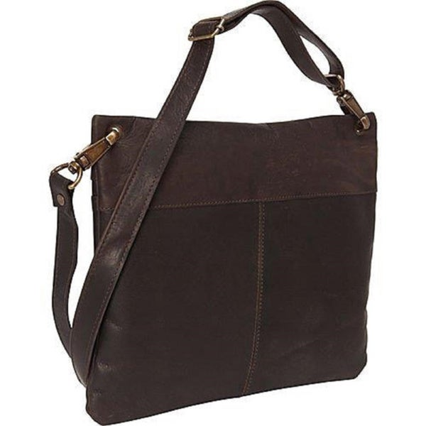 Sharo Dark Brown Soft Leather Cross Body Bag - Free Shipping Today ...