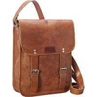 Sharo Genuine Leather Brown Hand-crafted Cross Body Messenger bag