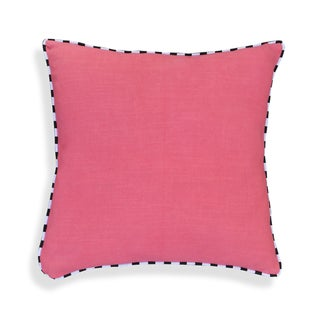 Hand-crafted 20 x 20-inch Cotton Throw Pillows with Black and White Piping