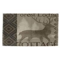 Winter Lodge Deer Rug - 4' x 6'