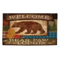 Welcome Bear Paw Lodge Rug (2' x 3')
