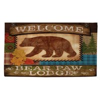 Welcome Bear Paw Lodge Rug (4' x 6')