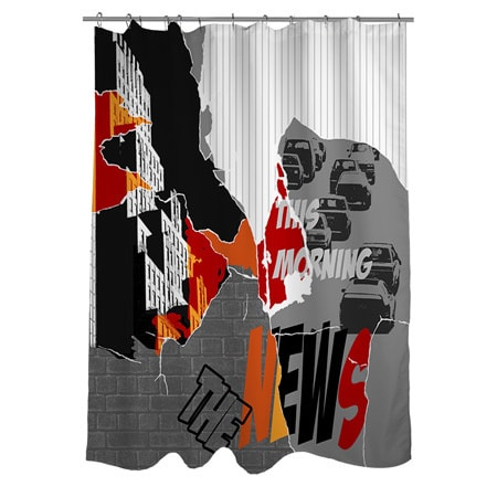 The News Shower Curtain