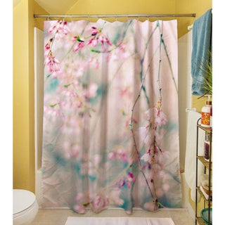 Thumbprintz Weeping Cherry Blossoms Shower Curtain - Free Shipping ...