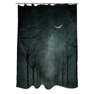 When the Moon is Tired Shower Curtain