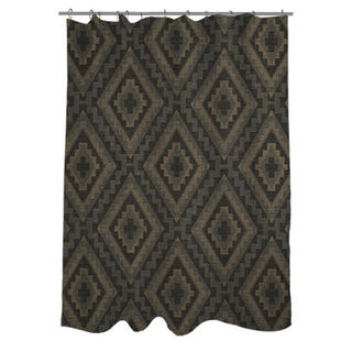 Winter Lodge Pattern Shower Curtain