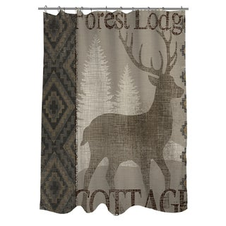 Winter Lodge Deer Shower Curtain
