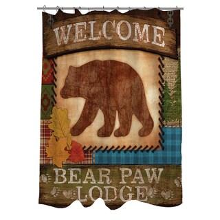Welcome Bear Paw Lodge Shower Curtain