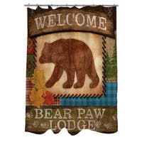 Welcome Bear Paw Lodge Shower Curtain