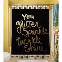 You Glitter Shower Curtain