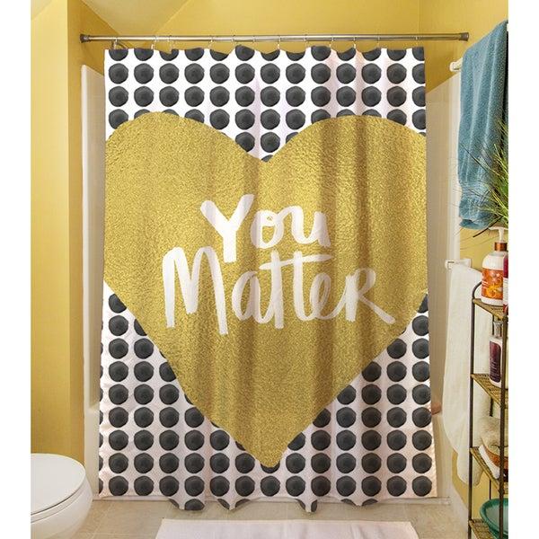 You Matter Heart Shower Curtain