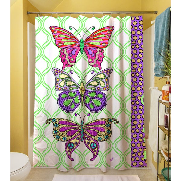 Tween Butterfly Shower Curtain