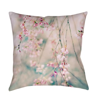 Weeping Cherry Blossoms Decorative Throw Pillow