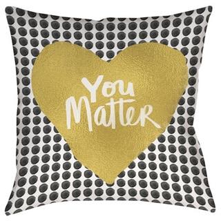 You Matter Heart Decorative Throw Pillow