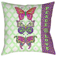 Tween Butterfly Decorative Throw Pillow