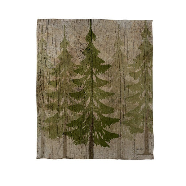 Pines Coral Fleece Throw