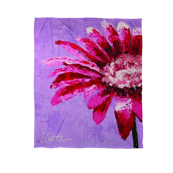 Pink is for Girls Coral Fleece Throw