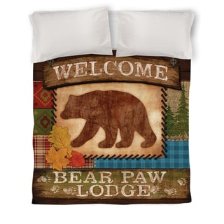 Welcome Bear Paw Lodge Duvet Cover
