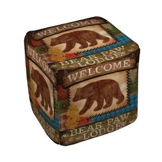 Welcome Bear Paw Lodge Pouf