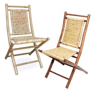Heather Ann Bamboo Folding Chairs (Set of 2)