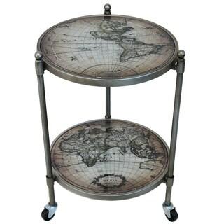 World Globe Wheeled Accent Table
