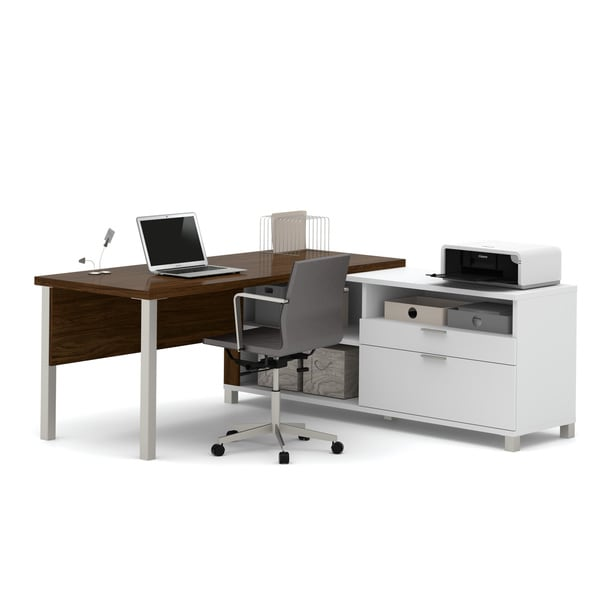 Bestar Pro Linea L Desk Free Shipping Today Overstock