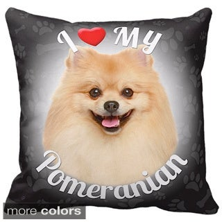 I Love My Pomeranian Throw Pillow