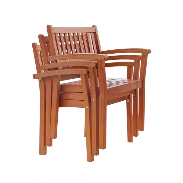 Malibu Eco Friendly 7 Piece Eucalyptus Wood Stacked Chair Outdoor Dining  Set   Free Shipping Today   Overstock.com   17206327
