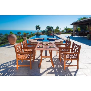 Malibu Eco-friendly Eucalyptus Wood 5-piece Outdoor Dining Set