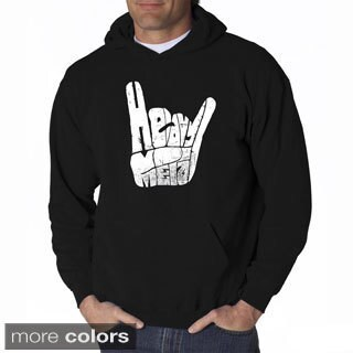 LA Pop Art Men's Heavy Metal Fingers Hooded Sweatshirt