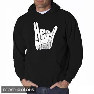 LA Pop Art Men's Heavy Metal Fingers Hooded Sweatshirt