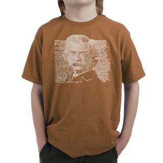 LA Pop Art Boys Mark Twain T-Shirt (4 options available)