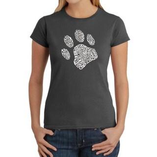 LA Pop Art Women's Dog Paw T-Shirt