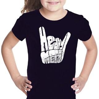 LA Pop Art Girls Heavy Metal Fingers T-Shirt (More options available)