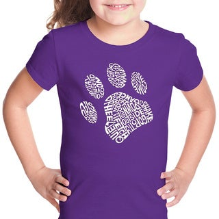 LA Pop Art Girls Dog Paw T-Shirt (4 options available)