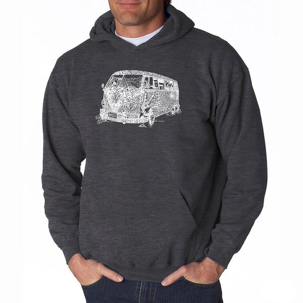 LA Pop Art Men's The 70's Hooded Sweatshirt. Opens flyout.