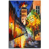 Lamp-Lit Night' Original Oil Painting on Canvas