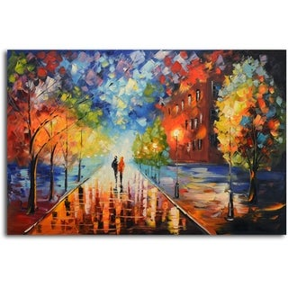 Misty Glow in the Moonlight' Original Oil Painting on Canvas