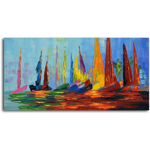 Vibrant Sea Day' Original Oil Painting on Canvas