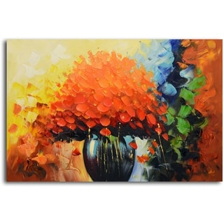 Summer Sunset in a Vase' Original Oil Painting on Canvas
